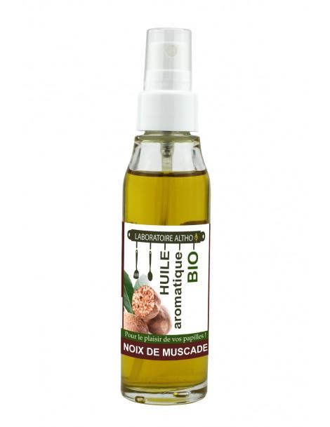 MUŠKÁTOVÝ OŘÍŠEK ochucený bio olej, 50 ml