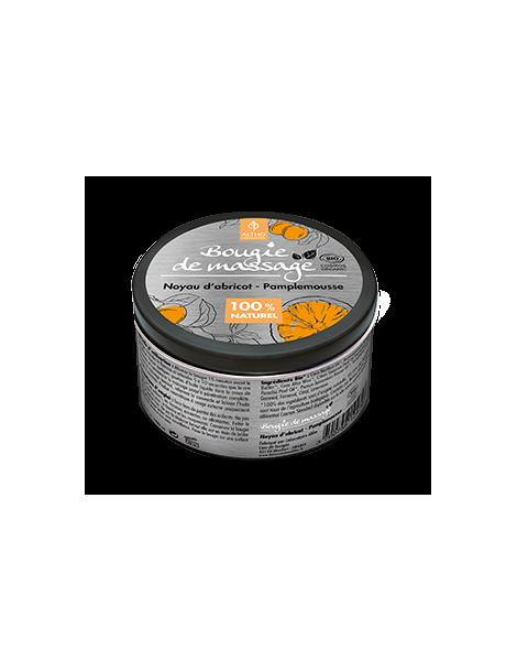 Masážní svíčka meruňka/grapefruit BIO, 100 ml