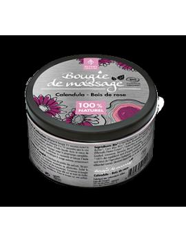 Masážní svíčka Měsíček / Růžové dřevo BIO, 100 ml